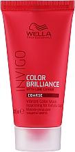Fragrances, Perfumes, Cosmetics Brightening Colored Coarse Hair Mask - Wella Professionals Invigo Color Brilliance Vibrant Color Mask Coarse