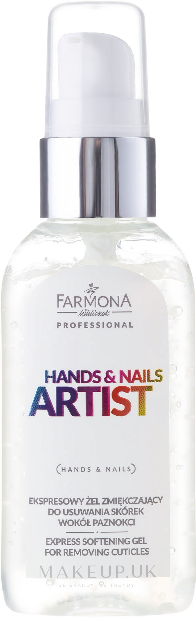 Cuticle Gel Remover - Farmona Hands and Nails Artist Express Softening Gel For Removing Cuticles — photo 50 ml