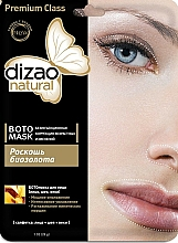 "Fragrances, Perfumes, Cosmetics Botanical mask for face, neck and eye area ""Luxury of bio-gold"" - Dizao"