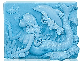 "Fragrances, Perfumes, Cosmetics Glycerin Soap ""Mermaid"" - Bulgarian Rose Glycerin Fragrant Soap Blue Mermaid"
