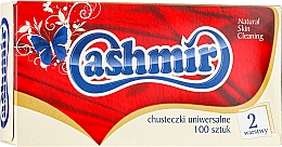 Fragrances, Perfumes, Cosmetics Universal Dry Tissues, 100 pcs - Cashmir