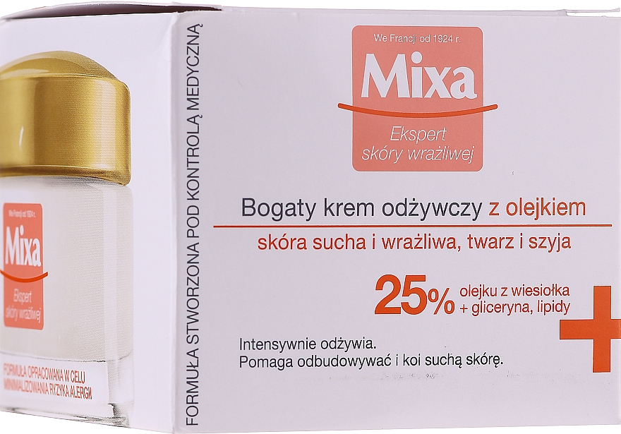Skin Soothing Nourishing Cream - Mixa Sensitive Skin Expert Rich Nourishing Cream