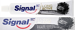 Fragrances, Perfumes, Cosmetics Toothpaste - Signal Long Active Nature Elements Charcoal