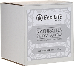 """Fragrances, Perfumes, Cosmetics Scented Candle """"Summer Memories"""" - Eco Life Candles"""