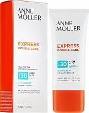 Fragrances, Perfumes, Cosmetics Facial Sun Fluid - Anne Moller Double Care Ultralight Facial Protection Fluid SPF30
