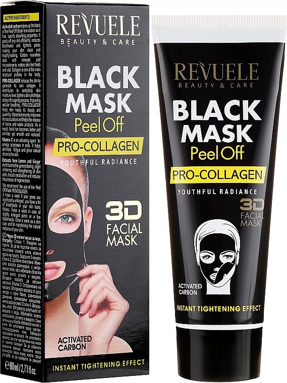 "Black Face Mask ""Pro-Collagen"" - Revuele Black Mask Peel Off Pro-Collagen"