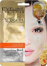 Fragrances, Perfumes, Cosmetics 24K Gold Nourishing Sheet Mask 8 in 1 - Eveline Cosmetics 24k Gold Nourishing Elixir Mask