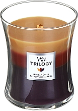 Fragrances, Perfumes, Cosmetics Scented Candle in Glass - WoodWick Holiday Cheer Trilogy Candle