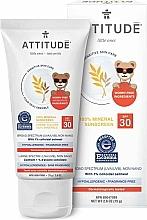 Fragrances, Perfumes, Cosmetics Sunscreen Cream - Attitude Little Ones Sensitive Skin Sunscreen SPF 30