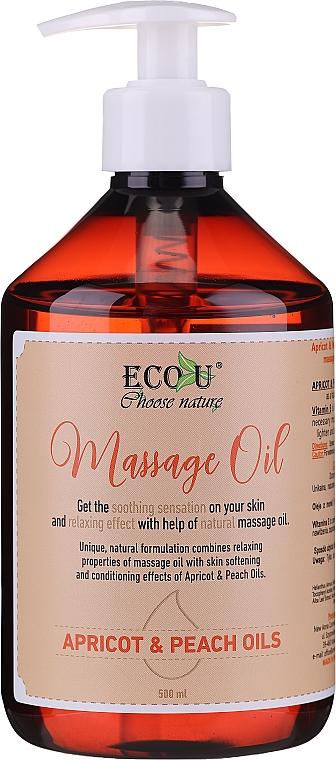 Massage Oil - Eco U Massage Oil Sweet Apricot & Peach Oil