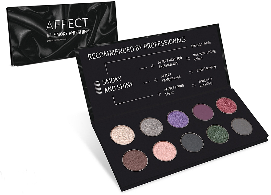 Pressed Eyeshadow Palette - Affect Cosmetics Smoky And Shiny Eyeshadow Palette