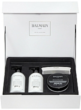 Fragrances, Perfumes, Cosmetics Set - Balmain Paris Hair Couture Silver Revitalizing Care Set (mask/200ml+h/couture/300ml+shampoo/300ml+brush)