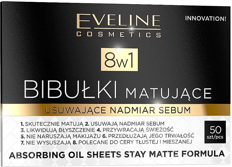 Oil Absorbing Paper - Eveline Cosmetics 8in1