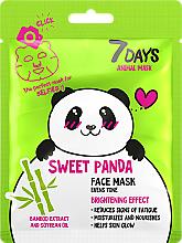 "Fragrances, Perfumes, Cosmetics Face Mask ""Sweet Panda"" - 7 Days Animal Sweet Panda"