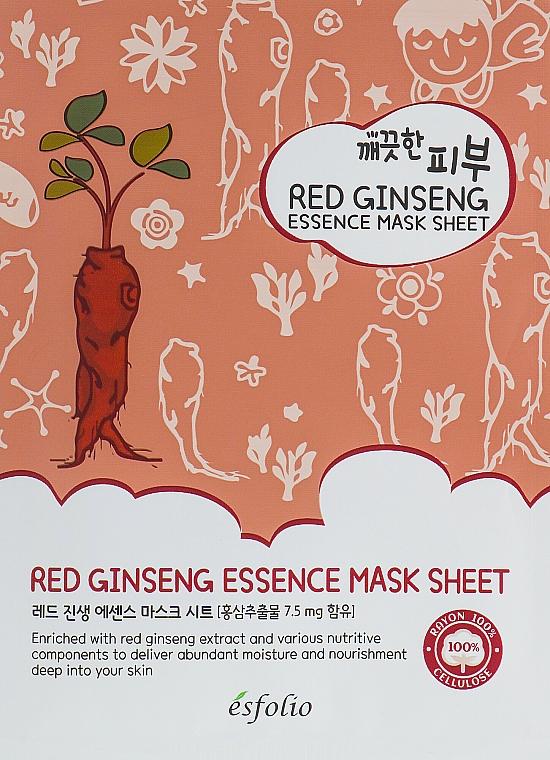 Red Ginseng Sheet Mask - Esfolio Pure Skin Red Ginseng Essence Mask Sheet