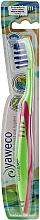 Fragrances, Perfumes, Cosmetics Toothbrush Medium, green-pink - Yaweco Toothbrush Nylon Medium