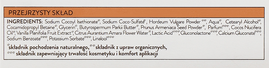 Coconut Body Soap-Scrub - Bielenda Eco Nature Body Peeling Bar Vanilla Coconut Milk Orange — photo N3
