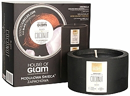 Fragrances, Perfumes, Cosmetics Scented Candle - House of Glam Black Coconut Candle