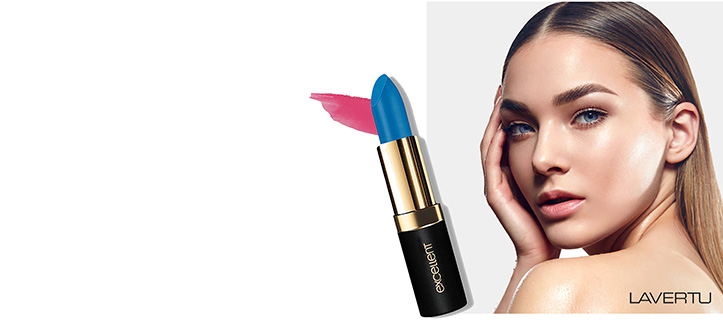 Purchase any makeup product from Laverty Cosmetics and receive a free full-size lipstick