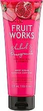 "Fragrances, Perfumes, Cosmetics Body Scrub ""Rhubarb & Pomegranate"" - Grace Cole Fruit Works Body Scrub Rhubarb & Pomegranate"