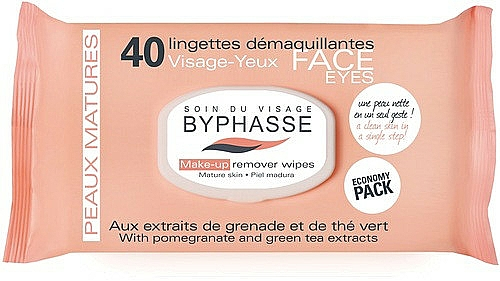 Makeup Remover Wipes - Byphasse Make-up Remover Pomegranate Extract And Green Tea