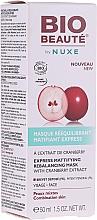 Fragrances, Perfumes, Cosmetics Pore-Shrinking Mattifying Mask - Nuxe Bio Beaute Express Mattifying Rebalancing Mask