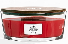Fragrances, Perfumes, Cosmetics Scented Candle in Glass - WoodWick Ellipse Scented Candle Crimson Berries