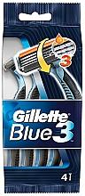 Fragrances, Perfumes, Cosmetics Disposable Shaving Razor Set, 4 pcs - Gillette Blue 3