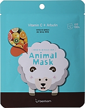 Fragrances, Perfumes, Cosmetics Vitamin C & Arbutin Sheet Mask - Berrisom Animal Mask Vitamin C + Arbutin Series Sheep
