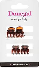 Fragrances, Perfumes, Cosmetics Hair Clip FA-5819, mini, brown, 4 pcs - Donegal Hair Clip