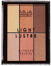 Fragrances, Perfumes, Cosmetics Makeup Palette - MUA Light Lustre Ultimate Palette Bronze, Blush, Highlight