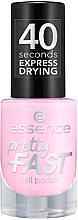 Fragrances, Perfumes, Cosmetics Nail Polish - Essence Pretty Fast Nail Polish