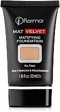 Fragrances, Perfumes, Cosmetics Foundation - Flormar Mat Velvet Matifying Foundation