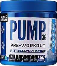 Fragrances, Perfumes, Cosmetics Muscle Function & Blood Flow Support Multi-Component Blend Of 12 Substances - Applied Nutrition Pump 3G Zero Stimulant Icy Blue Raz