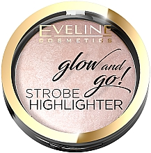 Fragrances, Perfumes, Cosmetics Face Highlighter - Eveline Cosmetics Glow And Go Strobe Highlighter