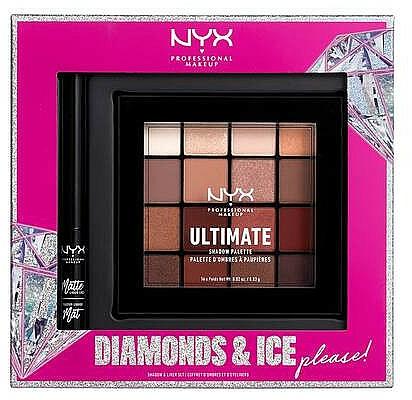Set - NYX Professional Makeup Diamonds & Ice Please Shadow & Liner Set (sh/palette/16x1.18g + liner/2ml)