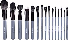 Makeup Brush Set, 15pcs - Eigshow Beauty Agate Grey Brush Kit — photo N1