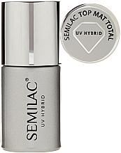 Fragrances, Perfumes, Cosmetics Matte Gel Top Coat - Semilac UV Hybrid Top Mat