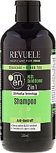 Fragrances, Perfumes, Cosmetics Shampoo and Conditioner for Men - Revuele Men Charcoal + Green Tea 2in1 Shampoo
