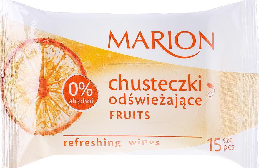 "Refreshing Wipes ""Fruits"", 15 pcs - Marion"