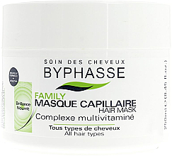 Fragrances, Perfumes, Cosmetics Multivitamin Complex Hair Mask for All Hair Types - Byphasse Family Multivitamin Complexe Mask