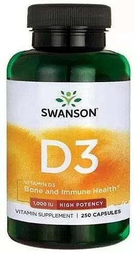 Vitamin-D3 1000 mg, 60 pcs - Swanson Vitamin D-3 1000 mg — photo N1