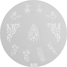Fragrances, Perfumes, Cosmetics Stamping Plate, RN 00410 - Ronney Professional
