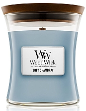 Fragrances, Perfumes, Cosmetics Scented Candle in Glass - WoodWick Hourglass Candle Soft Chambray