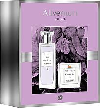 Fragrances, Perfumes, Cosmetics Allvernum Iris & Patchouli - Set (edp/50ml + candle/100g)