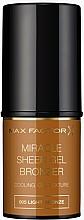 Fragrances, Perfumes, Cosmetics Stick Bronzer - Max Factor Miracle Sheer Gel Bronzer