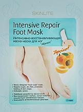 "Fragrances, Perfumes, Cosmetics Intensively Regenerating Foot Mask ""Apricot"" - Skinlite Intensive Repair Foot Mask"