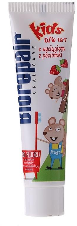 """Kids Toothpaste """"Funny Mouse"""" - BioRepair Junior Topo Gigio Cartoon"""