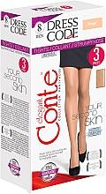 """Fragrances, Perfumes, Cosmetics Tights """"Dress Code"""" 8 Den, 3 pcs, beige - Conte"""