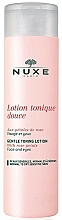 Fragrances, Perfumes, Cosmetics Gentle Rose Petals Lotion-Tonic - Nuxe Gentle Toning Lotion With Rose Petals